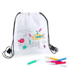 mochilas infantiles con pinturas colorear