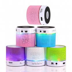 MINI ALTAVOZ BLUETOOTH CON LUZ LED Y USB altavoces para niños detalles bodas comuniones
