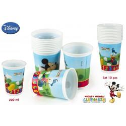 Pack 10 Vasos Mickey