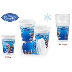 Pack 10 Vasos Frozen 200ml
