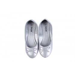 "BAILARINAS MANOLETINAS ""WEDDING"" TALLA-S PLATA"