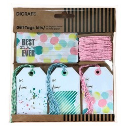 "KIT TARJETAS + SELLOS ""BEST EVER"""