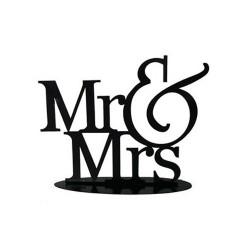 FIGURA PASTEL METÁLICA MR&MRS