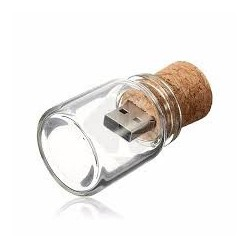 USB BOTE CRISTAL CORCHO RETRO 8GB