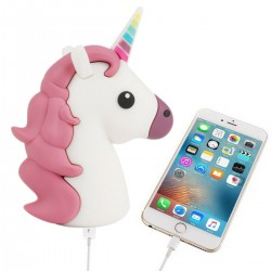 POWER BANK UNICORNIO 1200 mha EN CAJA DE REGALO