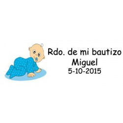 Lote 30 Tarjetas Bautizo Niño Pre-cortadas 2245