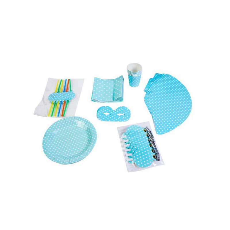 SET PARTY BABY SHOWER AZUL (7 ARTÍCULOS DIFERENTES