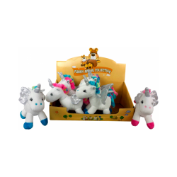 expositor peluches unicornios