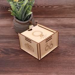 Cajita Joyero caja Madera Anillos Detalles Bodas