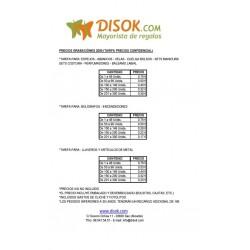 Lista de Precios de Grabación